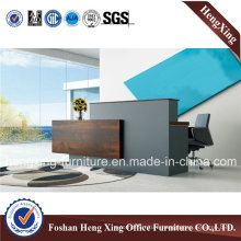 New Design 50mm Thickness Wooden Reception Desk (HX-5N075)