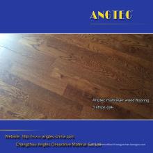 Plancher de bois d'ingénierie de chêne de 3 bandes / Merbau / bouleau