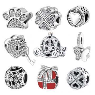 Fashion European Beads Bracelets Jewelry 925 Sterling Silver
