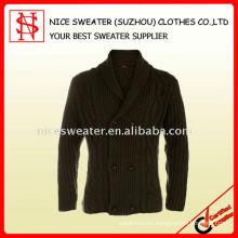 Chaqueta de punto de los hombres con botones jersey de lana