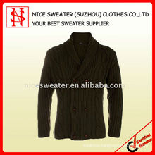 Men's fashion cardigan with buttons wool sweater
