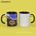 Sunmeta 11oz sublimation inner & handle color mug orange
