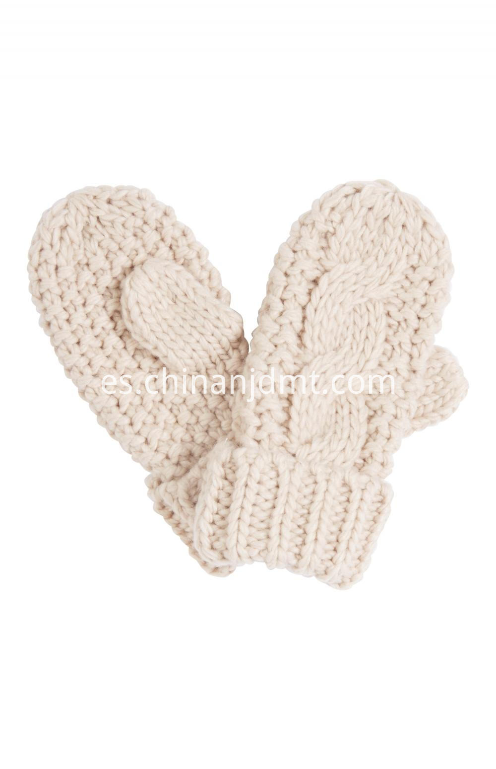 Blush Cable Knit Mittens