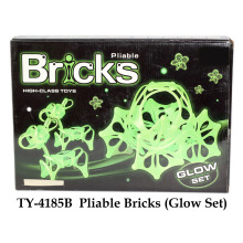Conjunto de brilho de brinquedo de tijolos flexíveis
