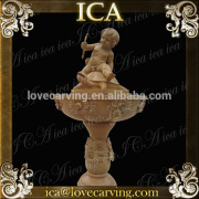 antique carved putto fountain