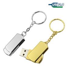 Movimentação luxuosa do USB do metal do giro / torção da qualidade superior com Keyring