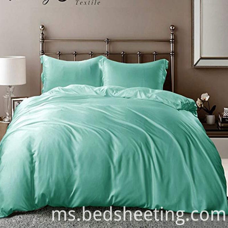 Hotel Turquoise Bamboo Duvet Cover