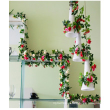 Soporte de flor de seda artificial del nuevo estilo al por mayor para la decoración de la boda