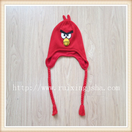red earflap angry bird hat