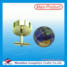 2015 Best Selling Fashion Cufflink Map Cufflink Souvenir Cufflink