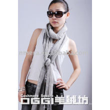 Écharpe en laine 100% lisse super longue femme