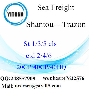 Shantou Port Sea Freight Shipping para Trazon