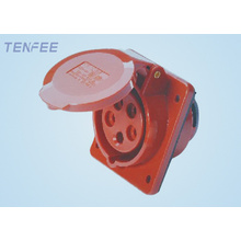 3P+E+N IP44 32A panel mounted socket(inclined)