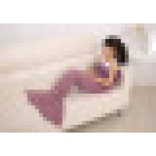 New Hot Children Yarn Knitted Mermaid Tail Blanket