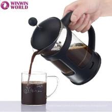 Diseño al por mayor de la moda con el tenedor y el mango plásticos franceses Presione el émbolo 1L del café