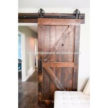 Puerta de granero de madera sólida deslizante antigua
