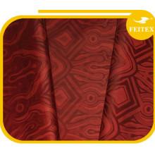 Materiales africanos de la ropa al por mayor 5 yardas / bolso en la acción Tela tejida a mano de Guinea del telar jacquar de Abaya 100% Brocade de Guinea hecho a mano del algodón