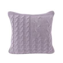 High quality 100% acrylic knitted throw material cushion sofa use decorative cushion