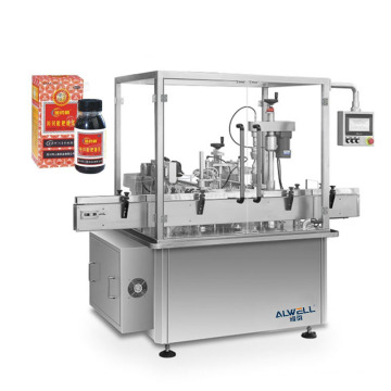 Automatic 60ml syrup filling machine production line