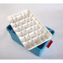 Caja de almacenamiento de plástico resistente para el recipiente de almacenamiento de artículos para el hogar Caja de plástico al por mayor