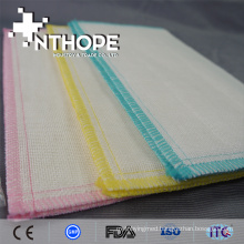 hot sale 100% cotton gauze fabric dishcloth