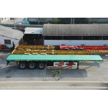 China Exporter for Flatbed Trailer 40' Three-Axle Flatbed Semi-Trailer supply to Samoa Factory