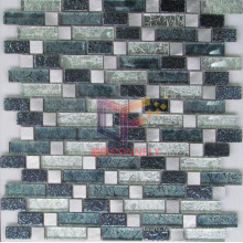 Gold Leaf Mix Metal and Crystal Mosaic (GF254)