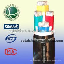 Государственная сетка 1KV ПВХ изоляцией ПВХ оболочке 4 основных силового кабеля