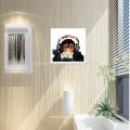 Decoración de la pared Arte animal de la pintura del mono en la impresión de la lona para la sala de estar