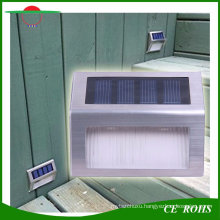 2LED White/ Warm White Stainless Steel Garden Fence Light Small Size Solar LED Wall Stair Lights Outdoor Pathway Lamp