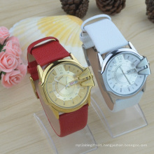 Genuine Leather Strap Double Date Lady Watch