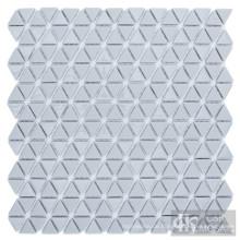 Graues Dreieck Glas Mosaik Bodenfliese