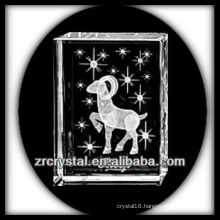 K9 3D Laser Crystal Block with Aries Inside