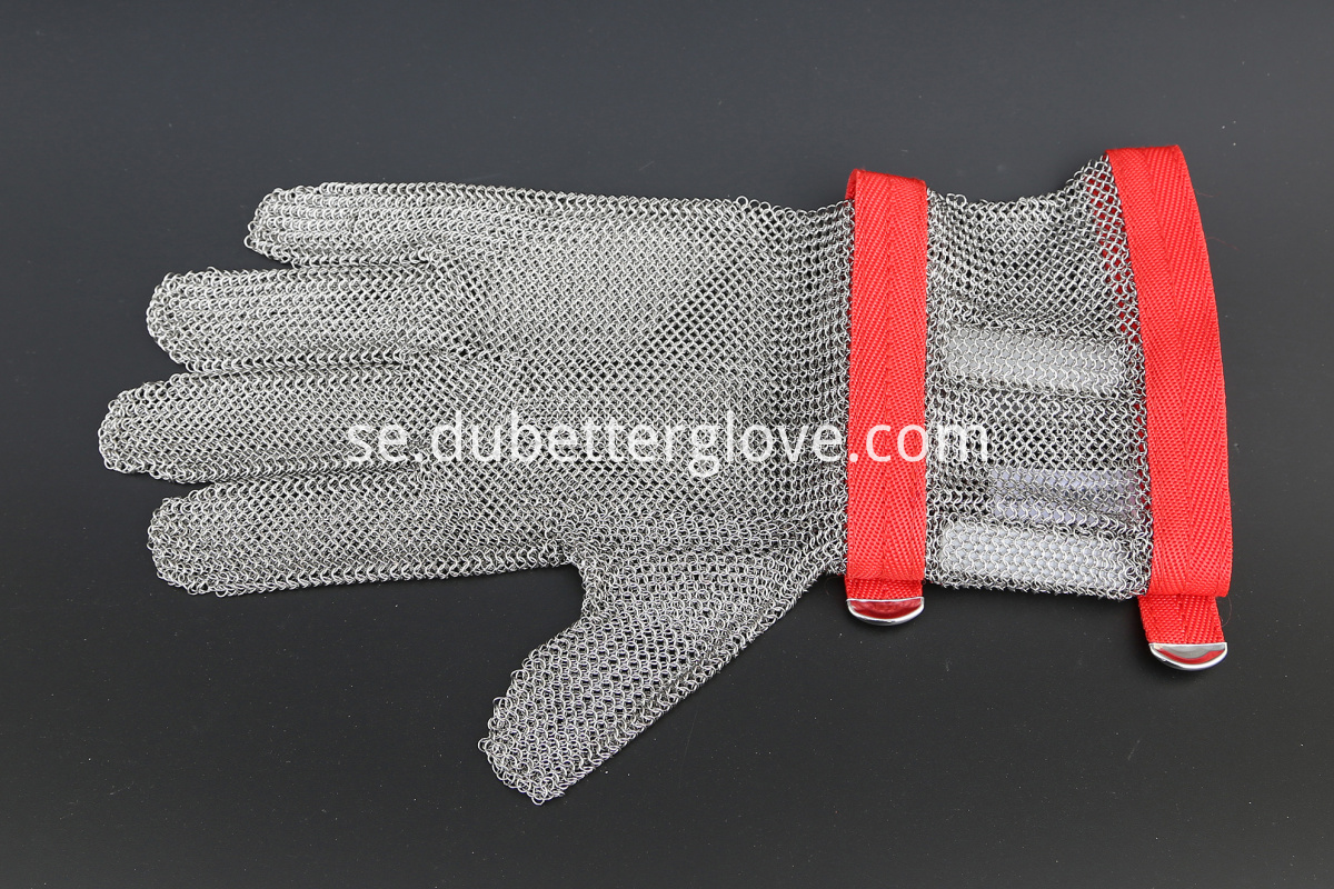 8 cm long cuff stainless steel mesh gloves