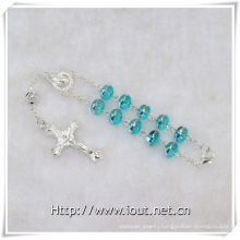 Glass Beads Decade Rosary with Cross, Glass Decade Rosary (IO-ce083)