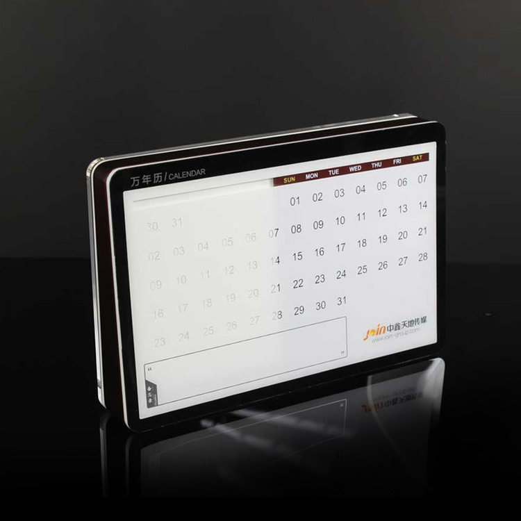 Hot Sale Acrylic Desktop Calendar Display Stand