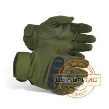 Fibra excelente proteção abrangente de couro luvas táticas