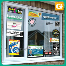 Custom Full Color printed Clear and White Window Static Cling