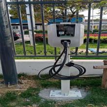 Pile de charge de voiture électrique installée dans la station de charge