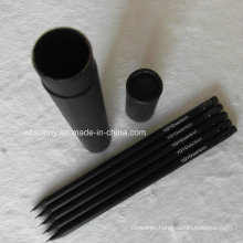 Eco-Friendly Hb Wooden Black Pencil with Eraser (XL-02017)