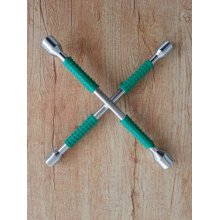 New Rubber Gripe curto polido Cross Rim Wrench