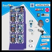 Hot item plástico máscara conjunto criança brinquedos super brinquedos arma