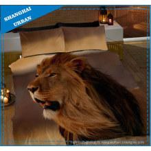 Ensemble de draps de lit de couverture imprimée 3D animaux africains
