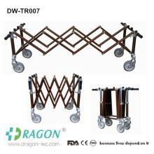 Dragon aluminum Mortuary used steel 4 or 2 brakes coffins trolley manufacturers