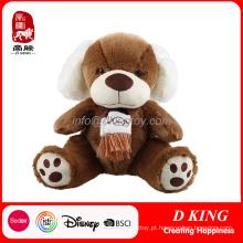 Urso Marrom Recheado Urso De Peluche Macio Brinquedo