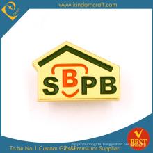 Custom Promotion Golden Metal Badge Manufacturer (KD-706)