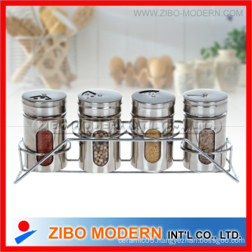 4PC Stainless Steel Spice Jar