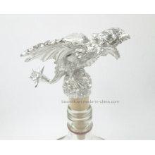 Qualitäts-Zink-Legierung + hölzerner Flaschen-Stopper