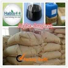 Améliorant digestif et absorbant pour les animaux Enzyme de glucoamylase pour l'alimentation de poulet / volaille / canard
