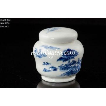 Blue Landscape Tea Caddy 100g Tea Capacity